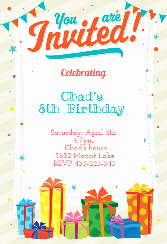 Microsoft Word Birthday Invitation Template Lovely You are Invited Free Birthday Invitation Template