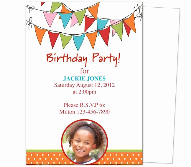 Microsoft Word Birthday Invitation Template Luxury 23 Best Images About Kids Birthday Party Invitation