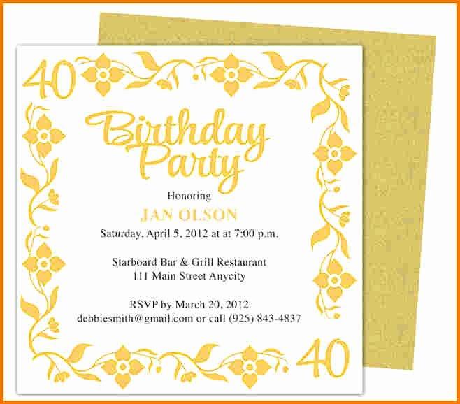 Microsoft Word Birthday Invitation Template Luxury Birthday Invitation Template Word
