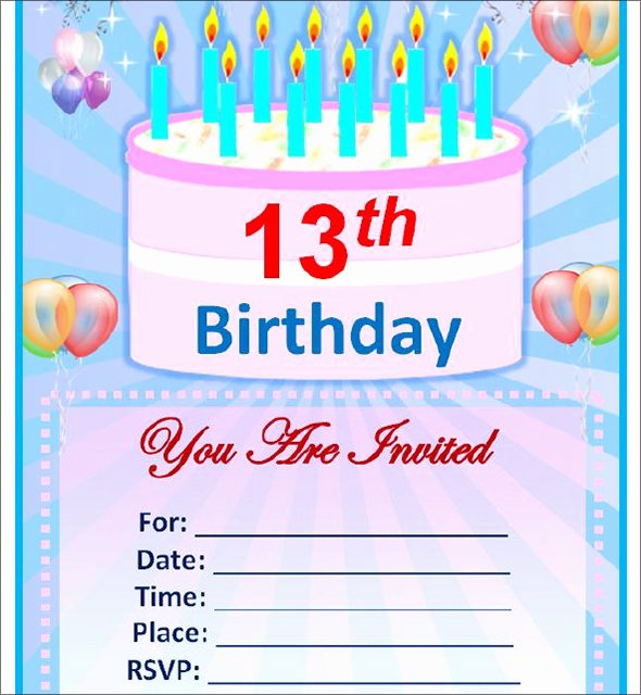 Microsoft Word Birthday Invitation Template Luxury Sample Birthday Invitation Template 40 Documents In Pdf