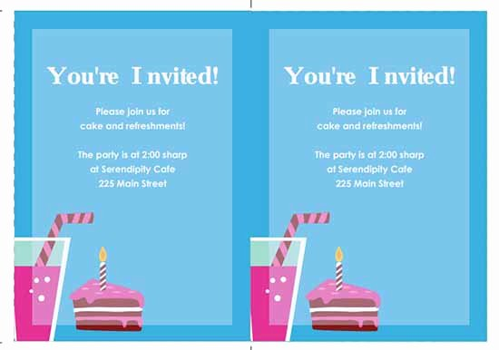 Microsoft Word Birthday Invitation Template New 6 Free Party Invitation Templates Excel Pdf formats