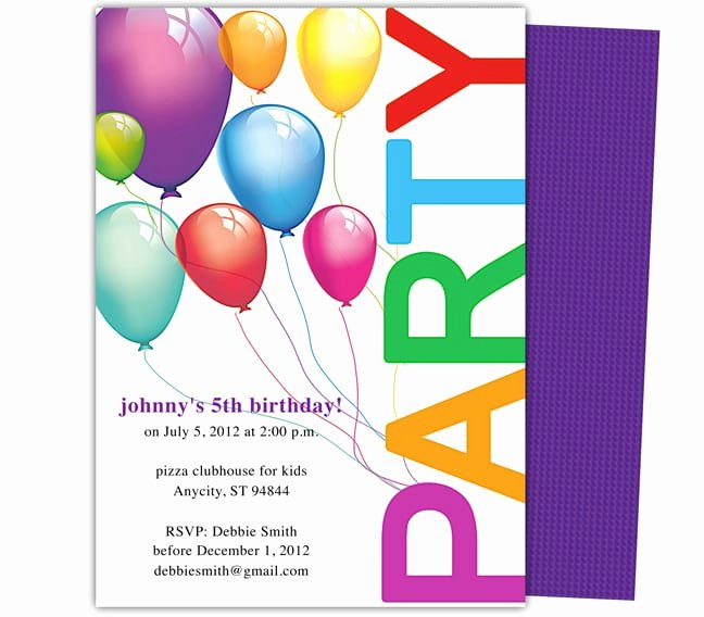 Microsoft Word Birthday Invitation Template Unique 5 Birthday Invitation Templates Word Excel Pdf Templates
