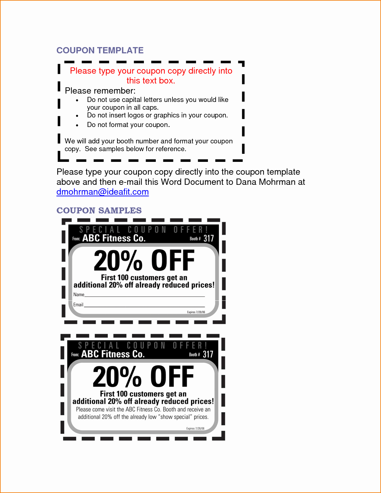 Microsoft Word Coupon Template Awesome 5 Microsoft Word Coupon Template