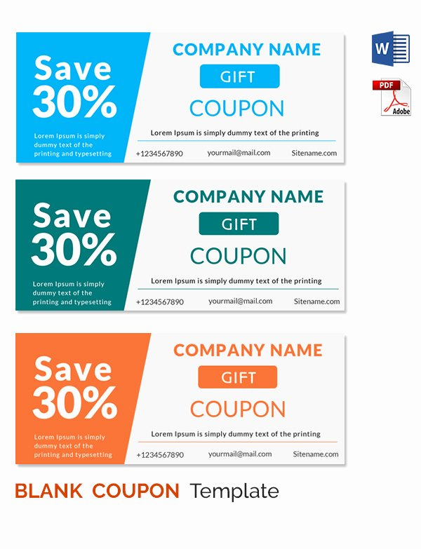 Microsoft Word Coupon Template Awesome Coupon Template Word