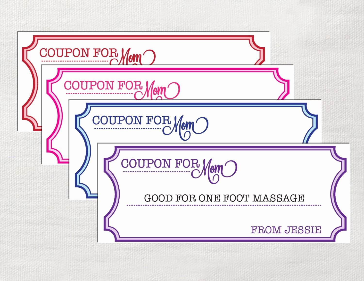 Microsoft Word Coupon Template Beautiful Coupons for Mom Instant Download Editable by Laurevansdesign