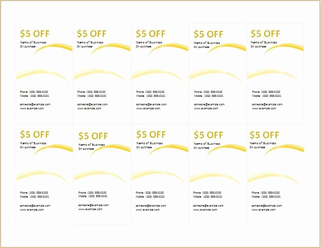Microsoft Word Coupon Template Inspirational How to Make Coupons with Sample Coupon Templates