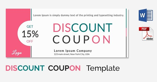 Microsoft Word Coupon Template Lovely Blank Coupon Templates – 26 Free Psd Word Eps Jpeg