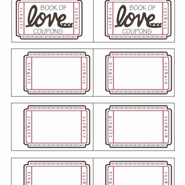 Microsoft Word Coupon Template Lovely Blank Love Coupons Template