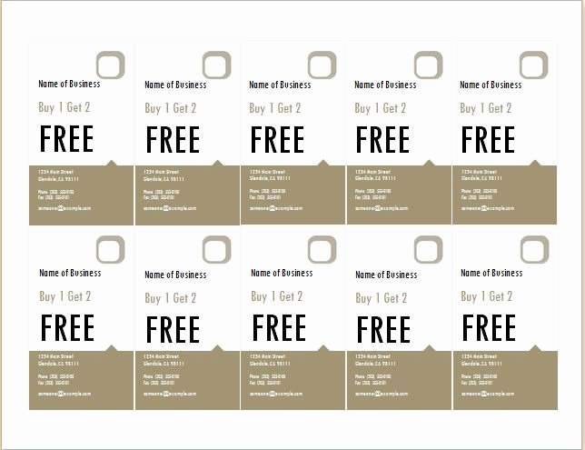 Microsoft Word Coupon Template Lovely How to Make Coupons with Sample Coupon Templates