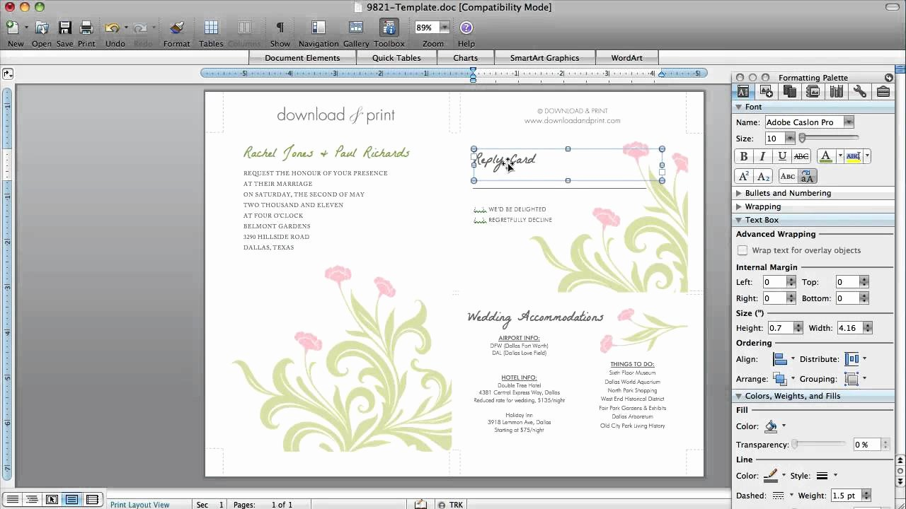 Microsoft Word Invitation Template Awesome How to Make Wedding Invitations In Microsoft Word