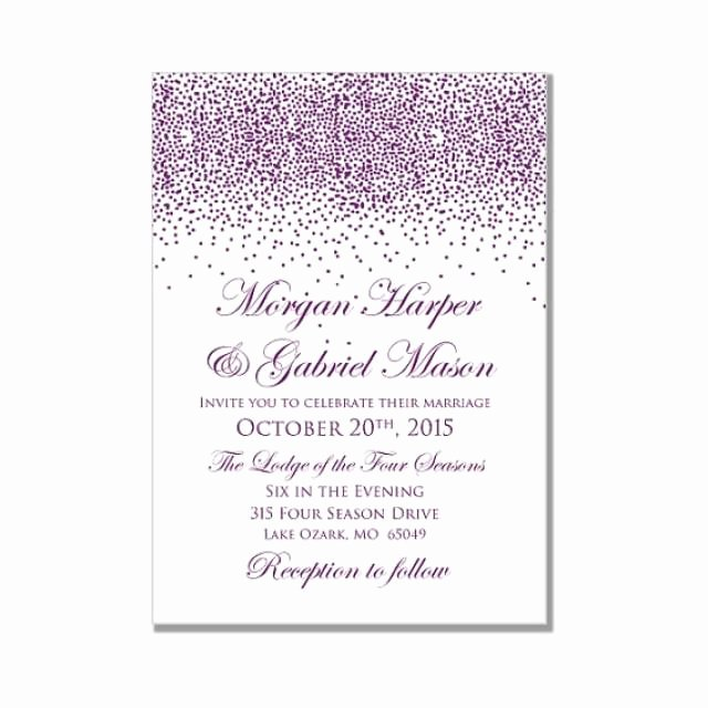 Microsoft Word Invitation Template Beautiful Printable Wedding Invitation Purple Wedding Purple