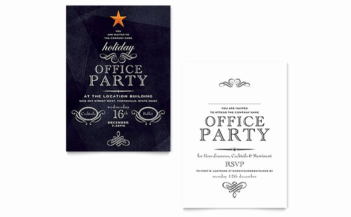 Microsoft Word Invitation Template Best Of Fice Holiday Party Invitation Template Word & Publisher