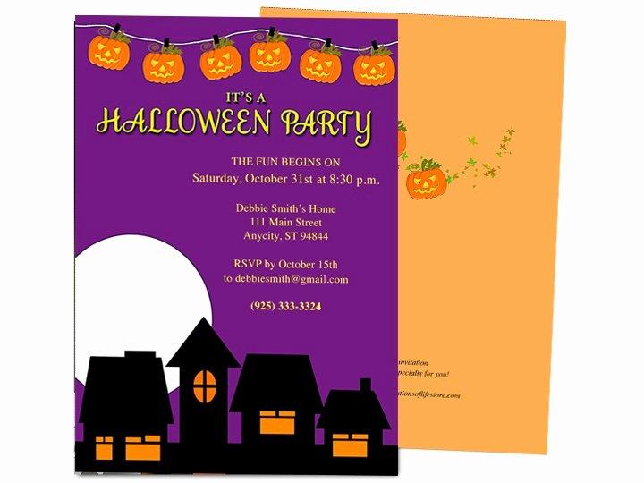 Microsoft Word Invitation Template Fresh Halloween Invitation Templates Microsoft Word – Festival