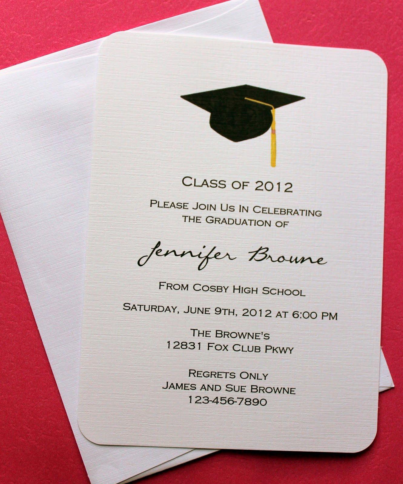 Microsoft Word Invitation Template Luxury Graduation Invitation Template Graduation Invitation