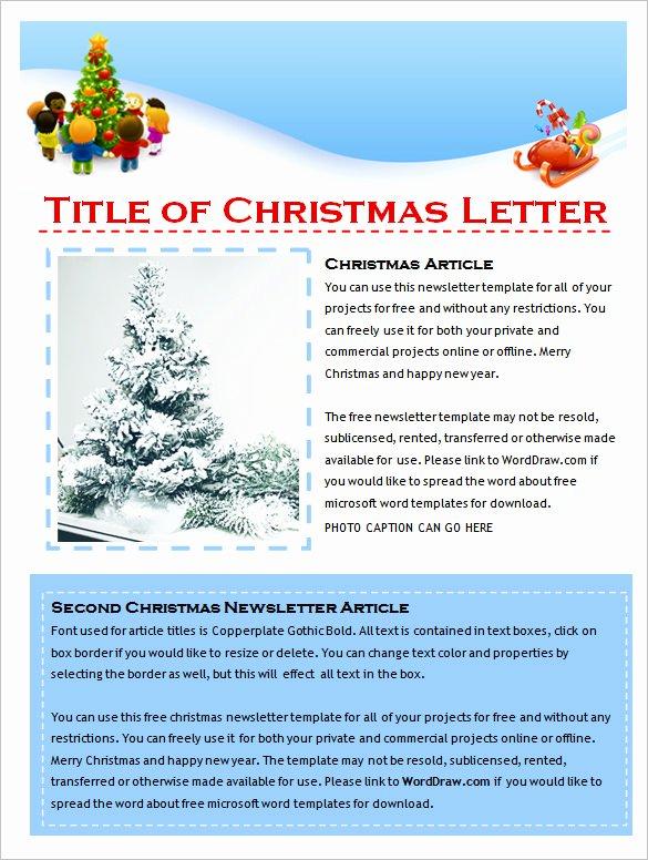 Microsoft Word Newsletter Template Free Best Of 9 Holiday Newsletter Templates – Free Word Documents