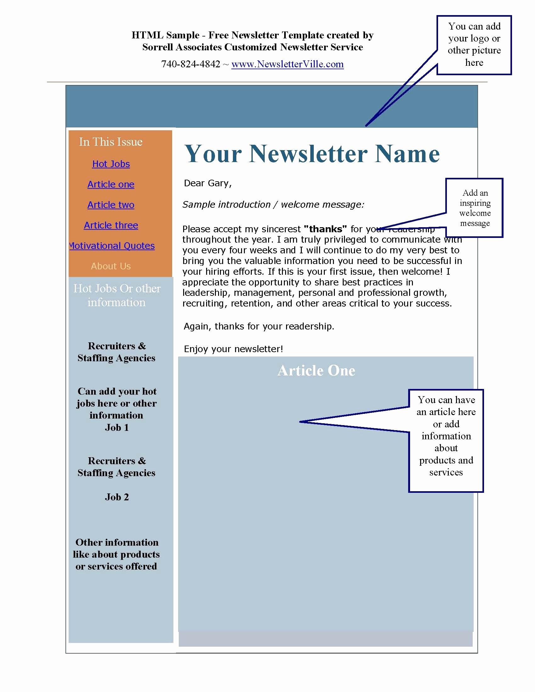 Microsoft Word Newsletter Template Free Best Of Ms Word Newsletter Templates Portablegasgrillweber