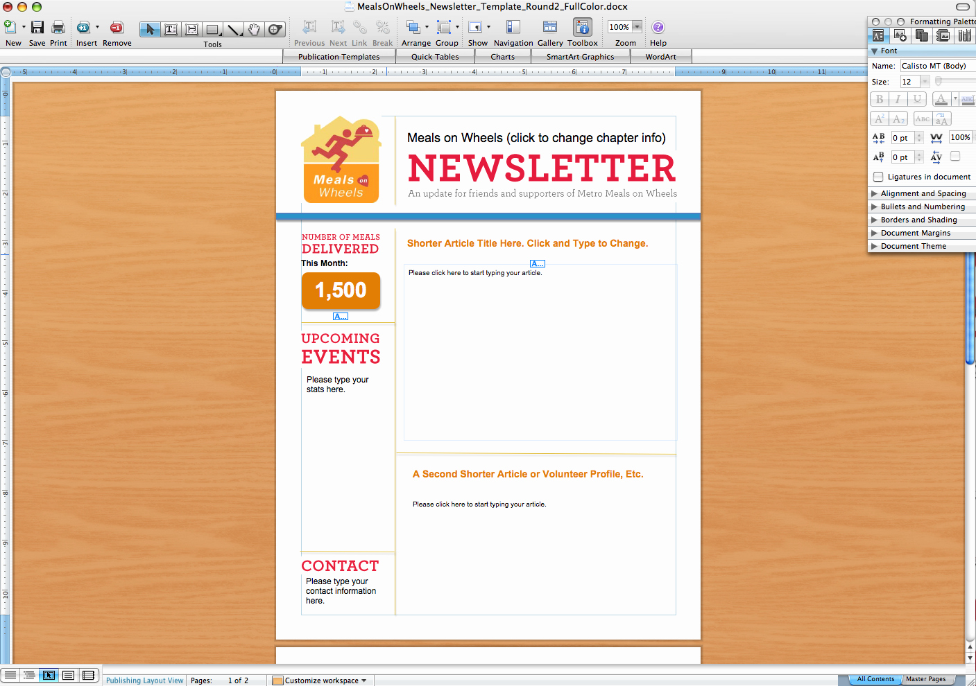 Microsoft Word Newsletter Template Free Elegant Microsoft Word Newsletter Templates