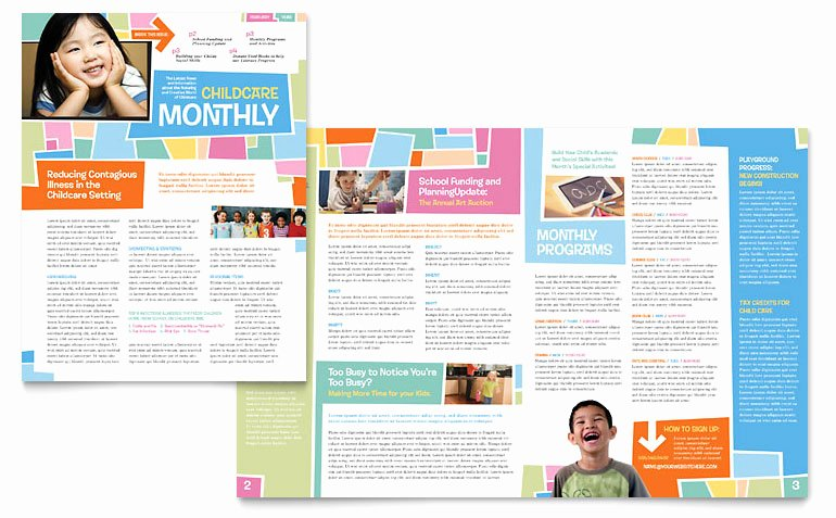 Microsoft Word Newsletter Template Free Elegant Preschool Kids & Day Care Newsletter Template Word