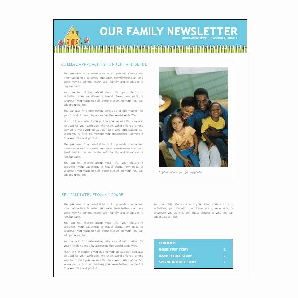 Microsoft Word Newsletter Template Free Elegant where to Find Free Church Newsletters Templates for