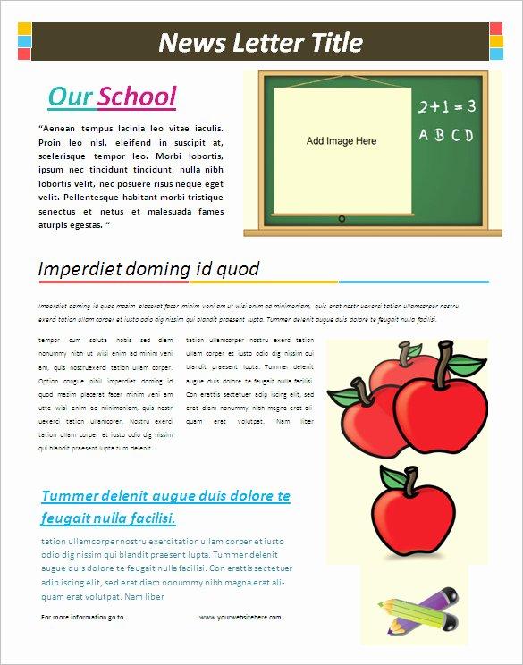 Microsoft Word Newsletter Template Free New 5 School Newsletter Templates Doc Pdf