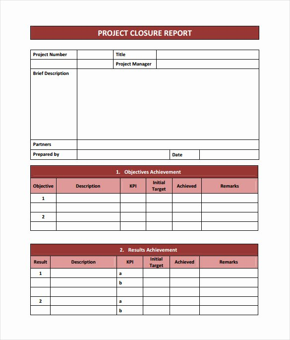 Microsoft Word Project Template Fresh 9 Sample Project Closure Report Template Examples