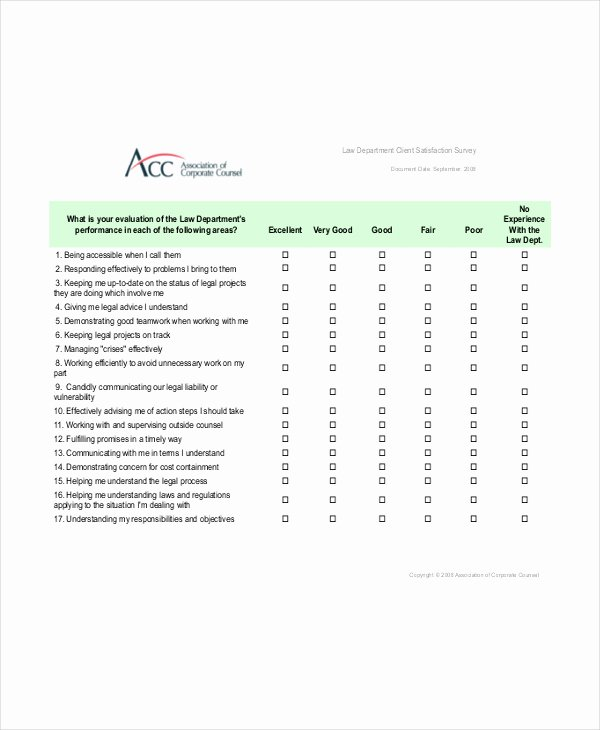 Microsoft Word Questionnaire Template Awesome Printable Microsoft Word Project Client Satisfaction