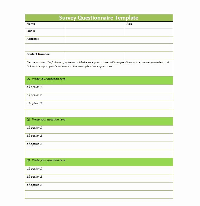 Microsoft Word Questionnaire Template Elegant 30 Questionnaire Templates Word Template Lab