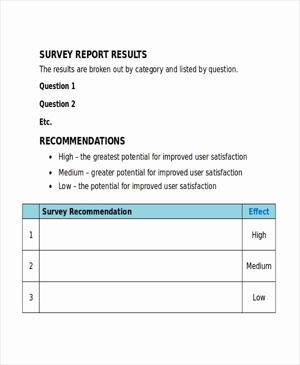 Microsoft Word Questionnaire Template Inspirational 32 Survey Template Free Sample Example format