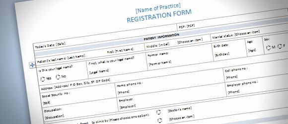 Microsoft Word Questionnaire Template Inspirational Patient Registration form Template for Word 2013