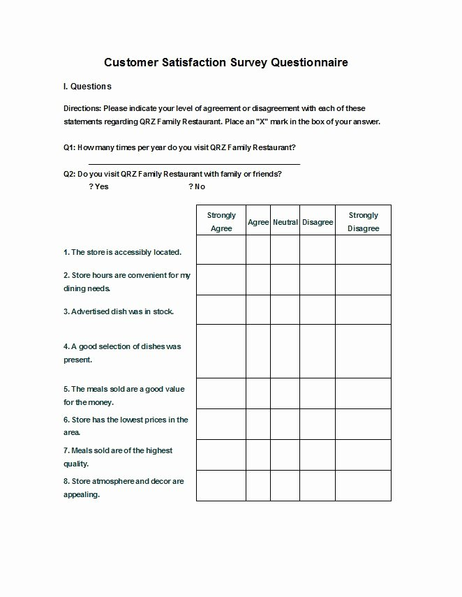 Microsoft Word Questionnaire Template Unique Questionnaire Template