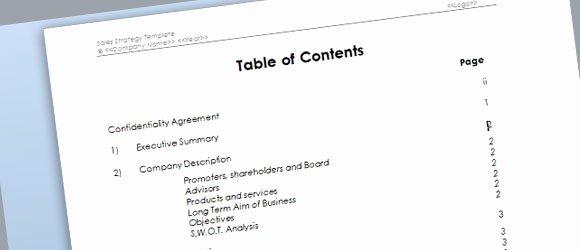 Microsoft Word Sales Proposal Template Inspirational Sales Strategy Template for Microsoft Word