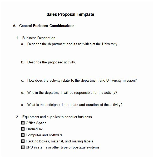 Microsoft Word Sales Proposal Template Unique 21 Sales Proposal Templates Doc Excel Pdf Ppt