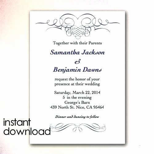 Microsoft Word Wedding Invitation Template Awesome Microsoft Word Wedding Template Program Inside Border