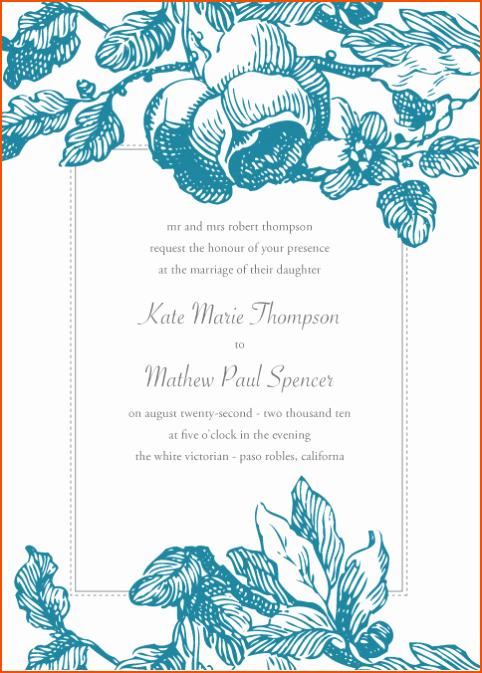 Microsoft Word Wedding Invitation Template Beautiful 8 Microsoft Word Invitation Templates Bookletemplate
