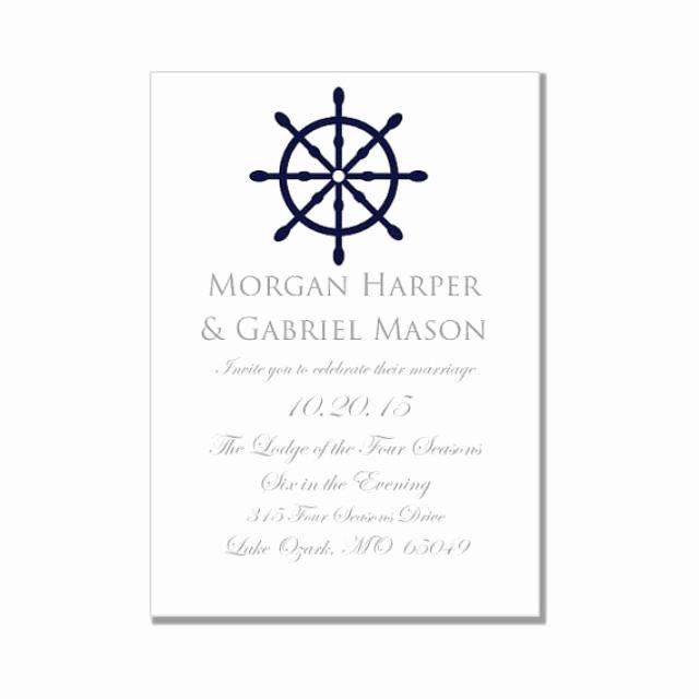 "Microsoft Word Wedding Invitation Template Best Of Nautical Wedding Invitation Template ""nautical Wheel"