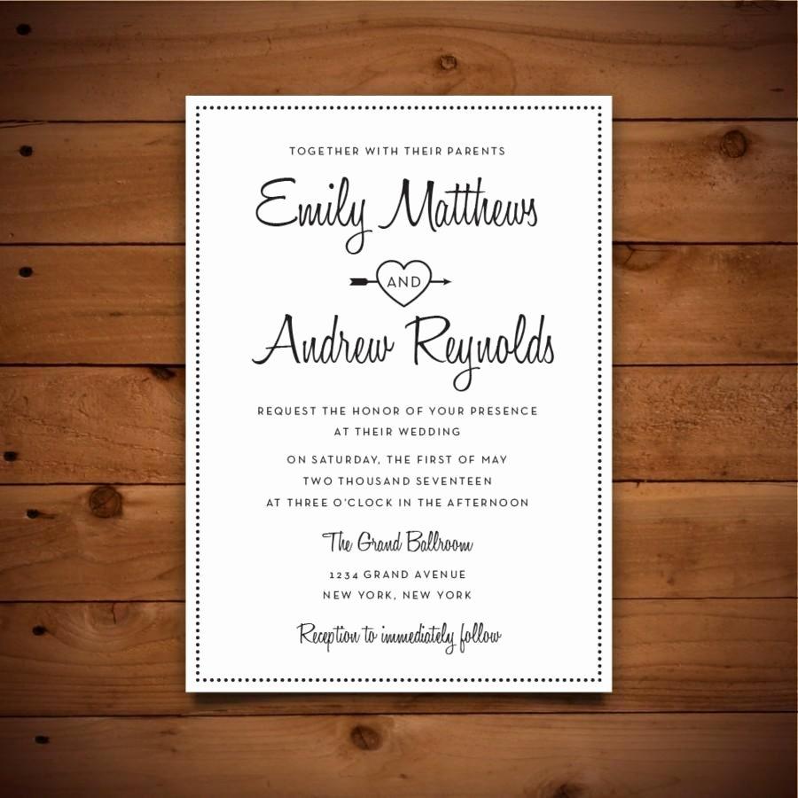 Microsoft Word Wedding Invitation Template Elegant Printable Vintage Style Wedding Invitation Template Dark