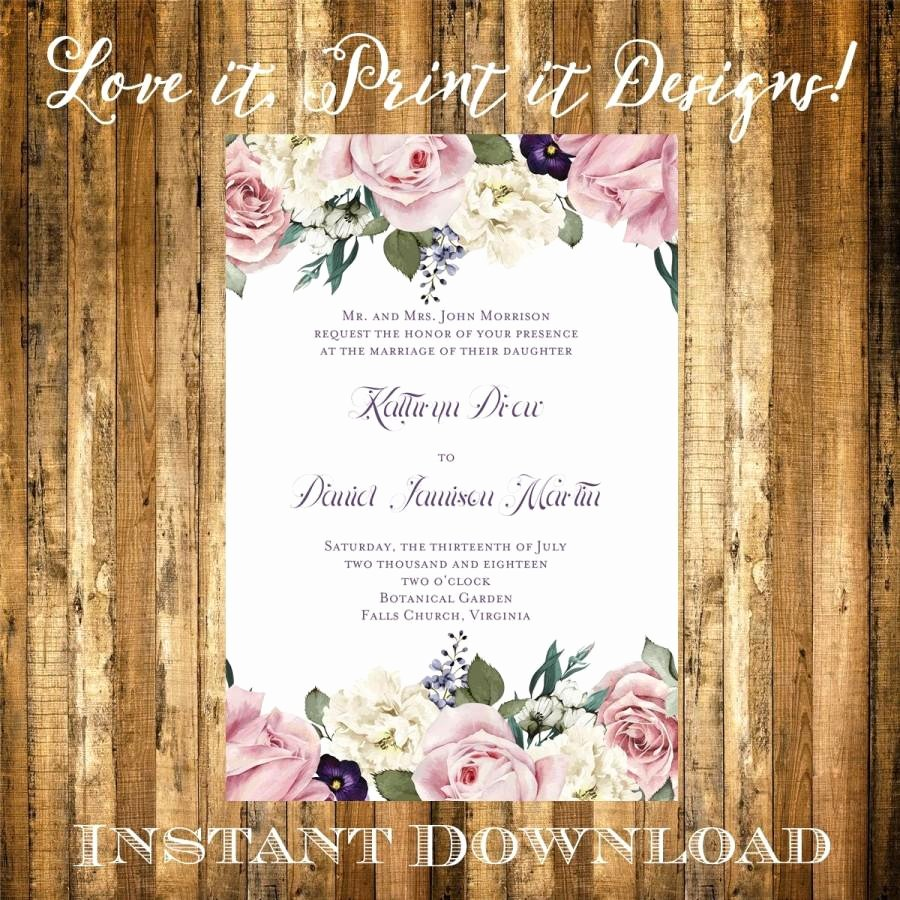 Microsoft Word Wedding Invitation Template Fresh Wedding Invitation Bridal Shower Diy Template Vintage