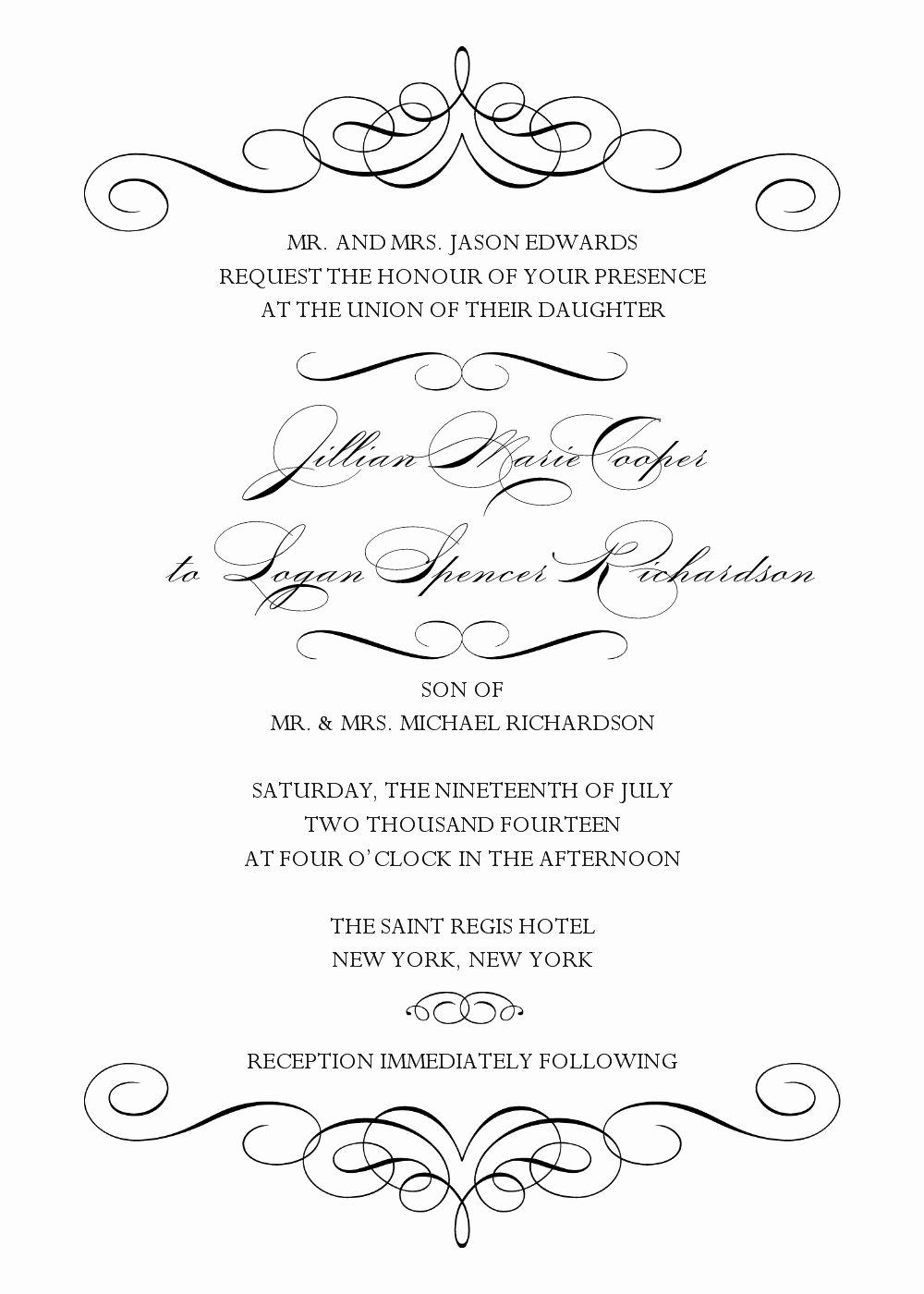 Microsoft Word Wedding Invitation Template Fresh Wedding Invitation Wedding Invitation Templates Word