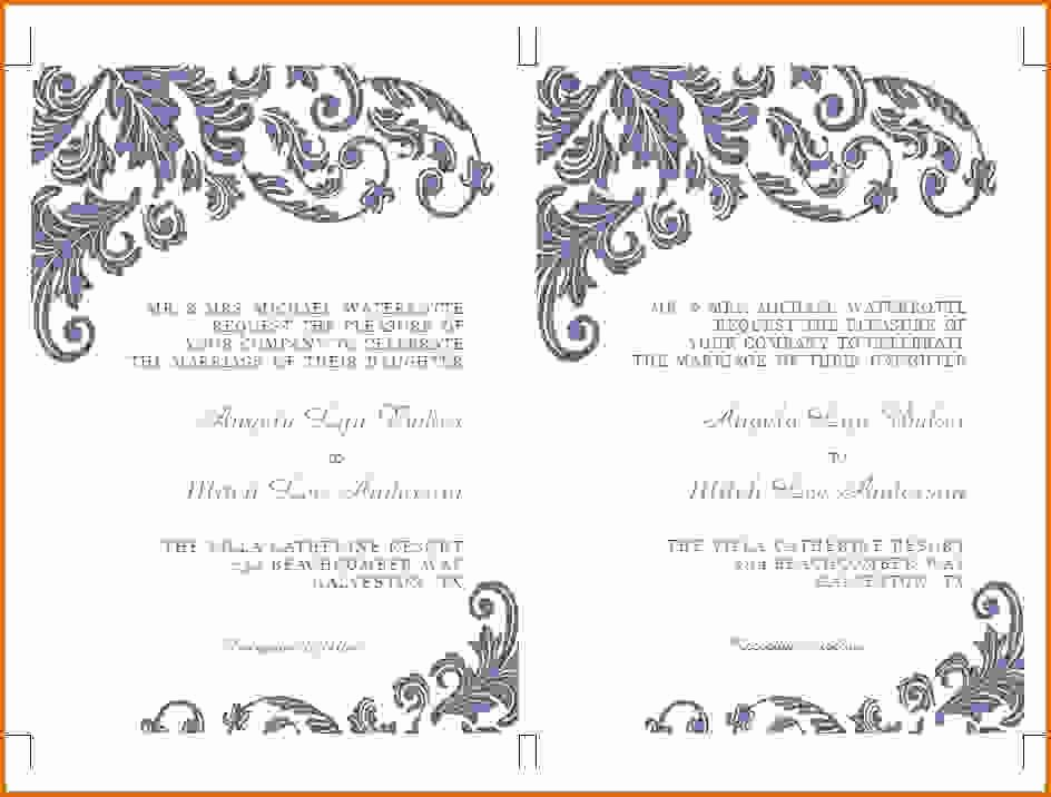 Microsoft Word Wedding Invitation Template Inspirational Microsoft Word Wedding Invitation Templatesreference