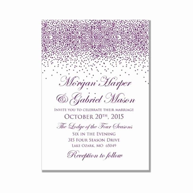 Microsoft Word Wedding Invitation Template Lovely Printable Wedding Invitation Purple Wedding Purple