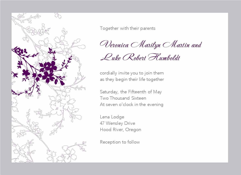 Microsoft Word Wedding Invitation Template Luxury Free Wedding Invitation Templates for Word