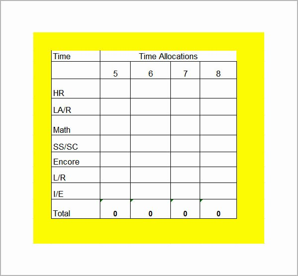 Middle School Schedule Template Beautiful 7 Sample Class Schedules