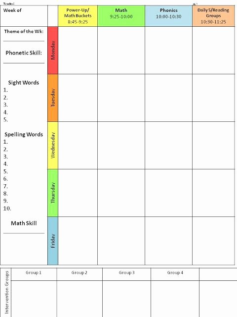 Middle School Schedule Template Best Of for the Love Of First Grade Back to School Lesson Plan