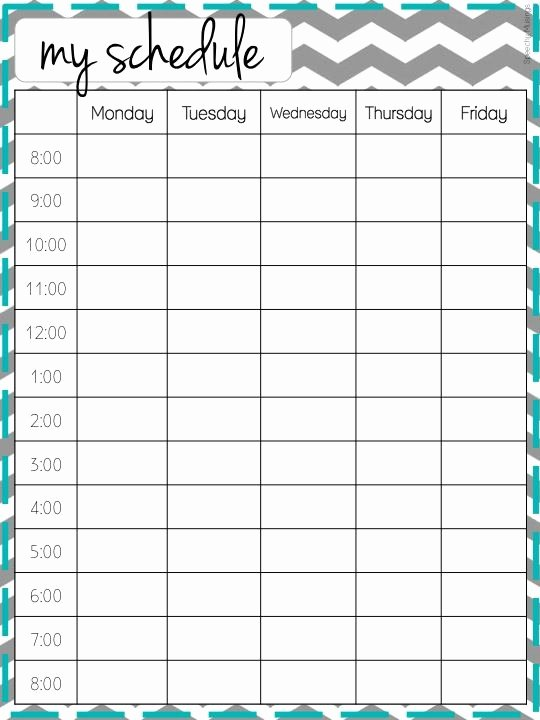 Middle School Schedule Template Best Of High School Class Schedule Example Best Photos Of School