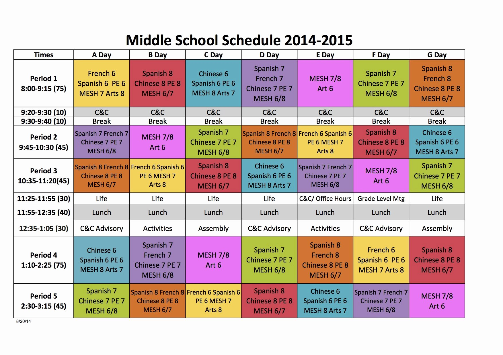 Middle School Schedule Template Best Of Quotes About Block Scheduling 26 Quotes
