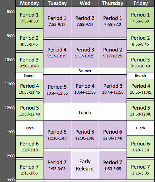Middle School Schedule Template Luxury Quotes About Block Scheduling 26 Quotes