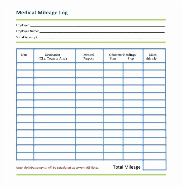 Mileage Log for Taxes Template Beautiful Mileage Tracker Log Business tool Editable Printable