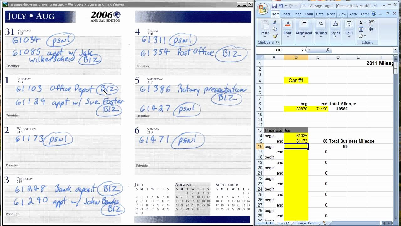 Mileage Log for Taxes Template Beautiful the Easiest Way to Keep A Mileage Log for Tax Deductions