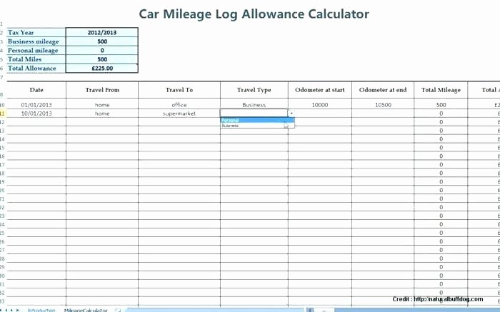 Mileage Log for Taxes Template Elegant 97 Vehicle Mileage Log Excel Tax Deduction Dsheet