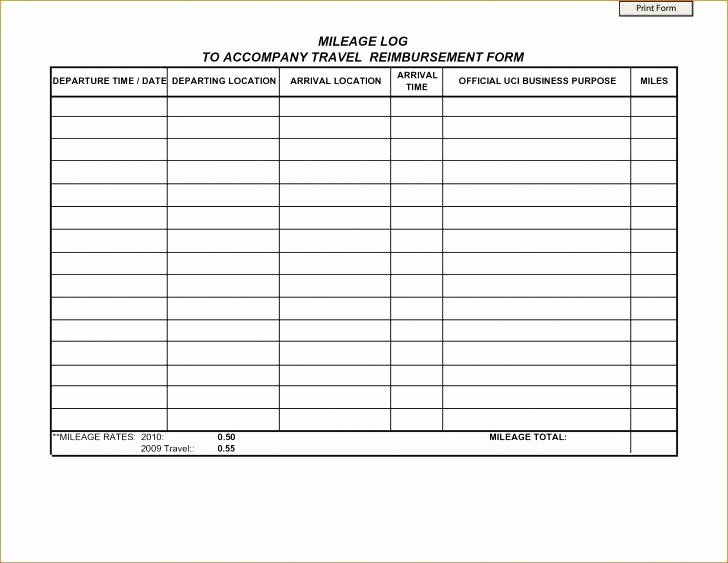 Mileage Log for Taxes Template Lovely Mileage Log Template Download Free Documents In Regarding